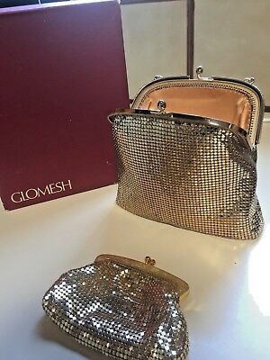 Glomesh Gold Evening Bag in the Original Box with a Oroton Gold Coin Purse.