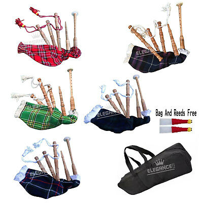 Junior Playable Bagpipes,Child Bagpipe/Kids Toy Bagpipe Free 2 Reeds with Bag