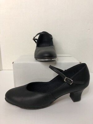 Capezio Women Tap Mary Jane Tap Dance shoes  Black Leather Size 9 1/2 (I)