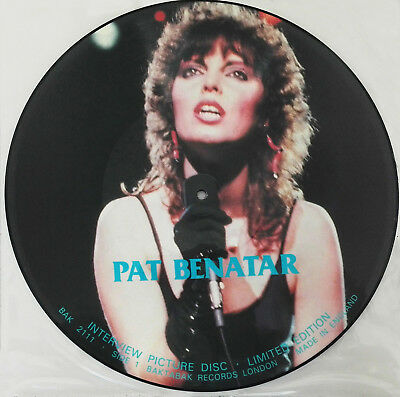 PAT BENATAR  -  Limited Edition Picture Disc LP UK