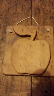 Antique reclaimed pine  plaque over 100 years old -- apple - chic