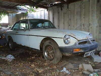 MGB GT 1975 White for Restoration / Parts