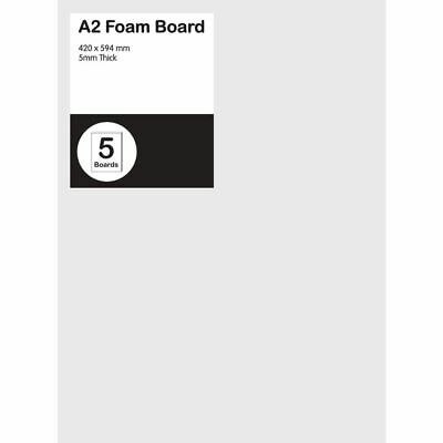 A2 Foam Board 5mm White 5 Pack