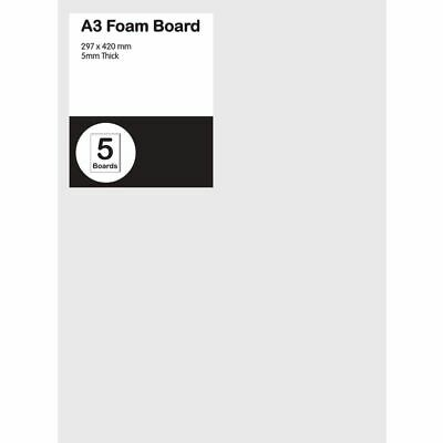 A3 Foam Board 5mm White 5 Pack