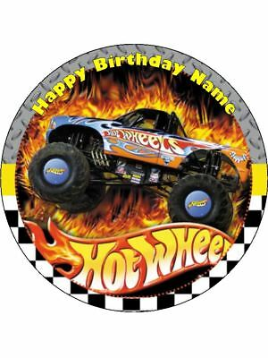 Hot Wheels 19cm Edible Icing Image Birthday Party Cake Topper