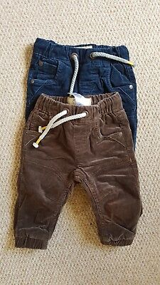 x2 boys thick/ winter cord trousers