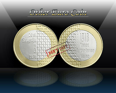 SLOVENIA 3 EURO 2018 ( End of the First World War ) Commemorative Coin * UNC