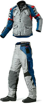 Bmw Rallye 3 Textile Suit Blue/Red 2015 Motorcycle Touring Off Road Suit