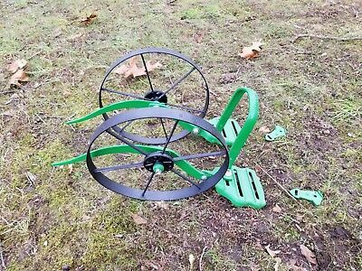 Planet Jr double wheel hoe cultivator restored includes leaf lifters vintage