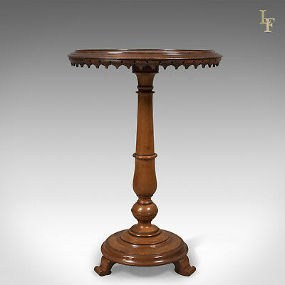 Antique, Club, Wine, Table, Mahogany, William IV, English, Side, Lamp c.1830