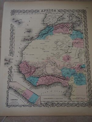 """Antique Map, """"Africa North Western Sheet"""", J. H. Colton"""