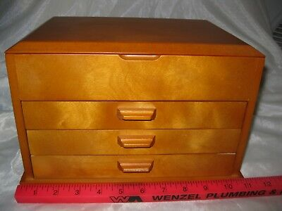Wooden Felt Lined Jewelry Box , Pre-owned