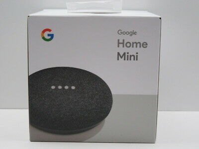 Google Home Mini Smart Assistant Speaker - Charcoal Color - New and Sealed