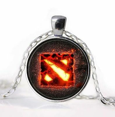 Dota 2 Necklace Pendant Glow Dark Luminous Locket Magic Moon Steampunk Jewels Us