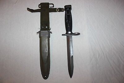 BOC M7 US Military Issue Fighting Knife USMC Army with M8A1 Scabbard Set AB04