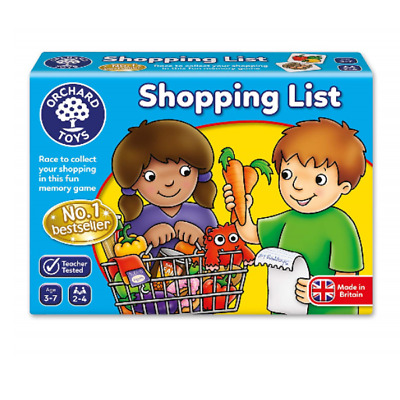New Orchard Toys SHOPPING LIST GAME 2-4 players Ages 3-7 Boys Girls Games