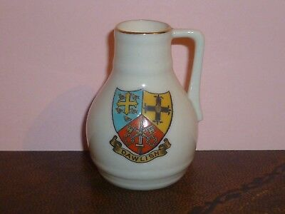 WH GOSS Crested China Model of Oak Pitcher peculiar to Devon. Crest of Dawlish
