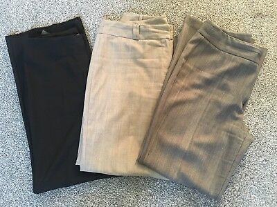 3 Pairs Womens Smart Trousers M&S/F&F - Size 12 - Good Condition