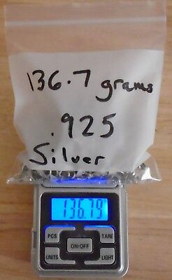 136.7 grams .925 Sterling Silver Silversmith Scrap Contains No Finished Pieces.