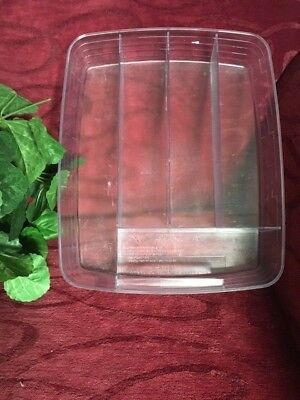 Longaberger Paper Tray basket DIVIDED FLATWARE PROTECTOR