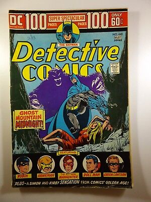"""Detective Comics #440 100-Pager """"Ghost Mountain Midnight!"""" Solid VG- Condition!"""
