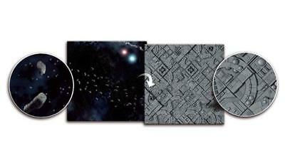 Gaming Mat Asteroid Field / Space Station 3x3 Two Sided Spielmatte Play mat game