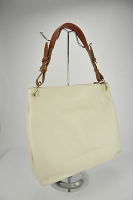 52e5c0d3d3 Soft leather woman s shoulder bag tote shopping made in Italy hand made  CREAM