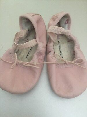Pink Bloch Bunnyhop Ballet Shoes Slippers, leather, children's size 8.5D