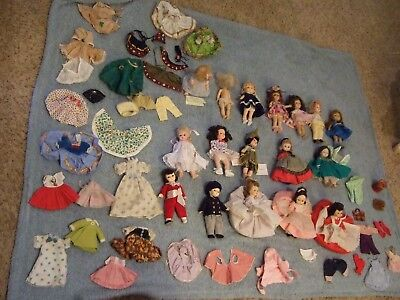 "Vintage 8"" Alexander and 8""  Vogue Ginny dolls  BOX LOT"