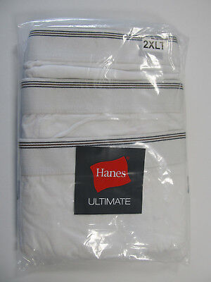 Hanes Ultimate Big and Tall Men's Underwear White Cotton BOXER BRIEFS 3-Pack NIP