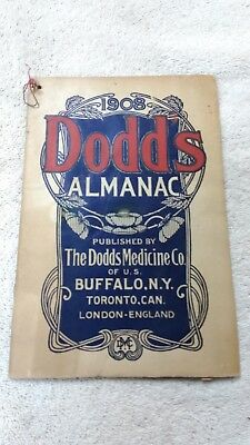 Vintage 1908 Dodd's Almanac Buffalo NY Toronto CA and London England