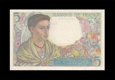 2.6.1943 Banque De France 5 Francs (( Gem Unc ))