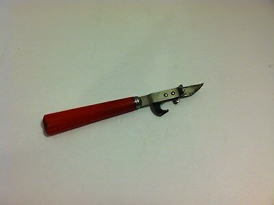 Vintage Red Bakelite Can Opener Bottle Opener Stainless Steel Made in The USA