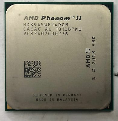 AMD Phenom II X4 945 Desktop CPU Processor- HDX945WFK4DGM