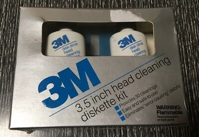 3M - 3.5 Inch Head Cleaning Diskette Kit, Brand New Old Stock
