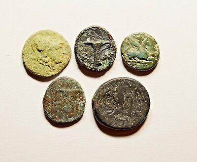 Rare Mixed Lot Of 5 Ancient Greek Coins