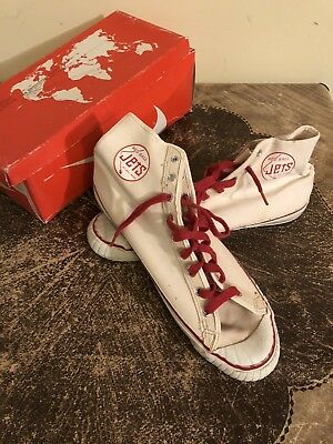 Vintage 50s BALL BAND Basketball Sneaker Red Ball Jets High Top Shoe Sz 13 W/Box