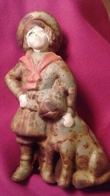 Vintage Buster Brown And Tige Dog Cast Iron Bank