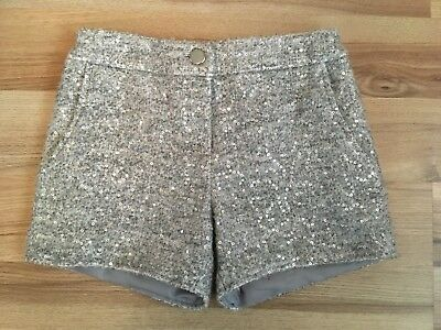 Girls F&F Grey Sequin Effect Shorts - Age 8-9 Years - Worn Once, Ideal For Party