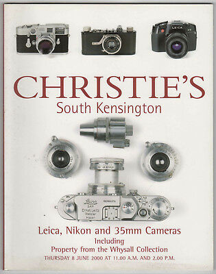Christies 2000 Auction Catalogue Leica Nikon & 35mm Cameras + Whysall Collection