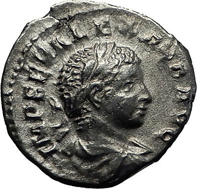 Severus Alexander 222AD Authentic  Silver Ancient Roman Coin Liberty i60307