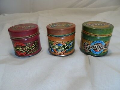 Vintage Lot of 3 The Tinder Box Empty Smoking Tobacco Tins Small Metal Storage