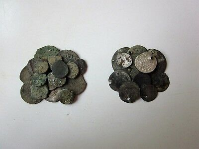 Lot of 16 + 11 BONUS Medieval / Islamic Copper and Silver Coins.
