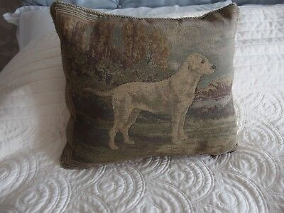 vintage tapestry cushion Labrador dog theme by Sussex House London