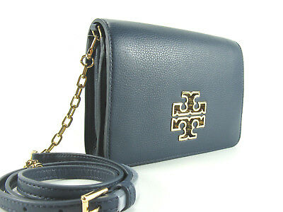 20347590c50 NWT Tory Burch Britten Combo Crossbody Leather Bag in Hudson Bag Authentic