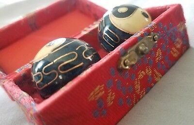Chinese Healthy Exercise Stress Massage Metal Balls With Box Baoding