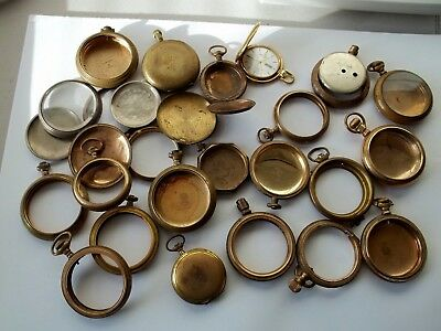 Old & Used Gold Filled Worn Pocketwatches for recovery or parts - FREE SHIP