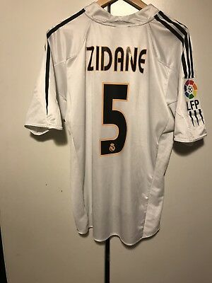 Real Madrid jersey trikot maglia 2004-05 Zidane #5 LFP Patch