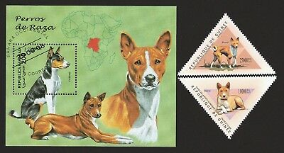 BASENJI ** Int'l Dog Postage Stamp Collection ** Unique Gift **