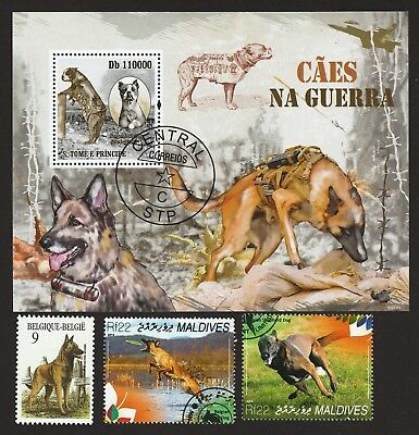 BELGIAN MALINOIS  ** Int'l Dog Postage Stamp Collection **Unique Shepherd Gift**